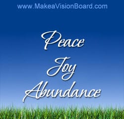 Peace, Joy, Abundance - Make a Gratitude Board!
