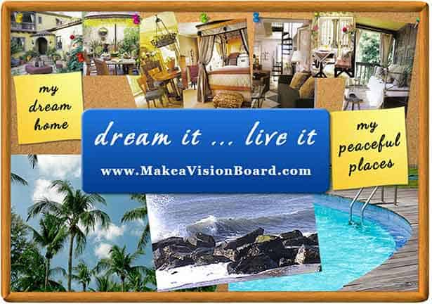 What is a vision board make the law of attraction work for Home design vision board