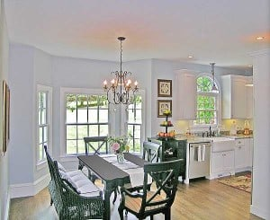 Casual Dining Room - Manifesting your dreams at https://www.makeavisionboard.com/build-your-dream-home-thoughts-on-the-emotion-in-the-intention/