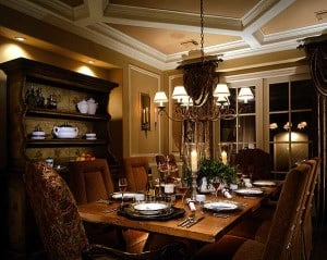 Formal Dining Room - Manifesting your dreams at https://www.makeavisionboard.com/build-your-dream-home-thoughts-on-the-emotion-in-the-intention/