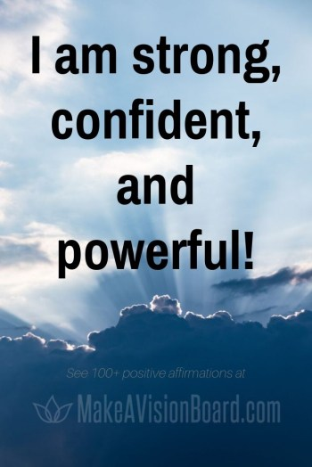 Affirmations for Self-Confidence at MakeAVisionBoard.com
