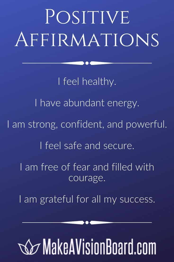 100 Affirmations for Life, Love, Confidence & More - MakeAVisionBoard.com