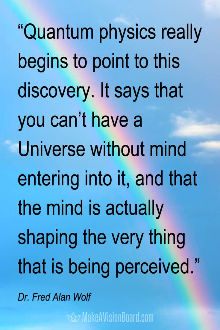 Law of Attraction Quote, Wolf, the mind is actually shaping the very thing that is being perceived