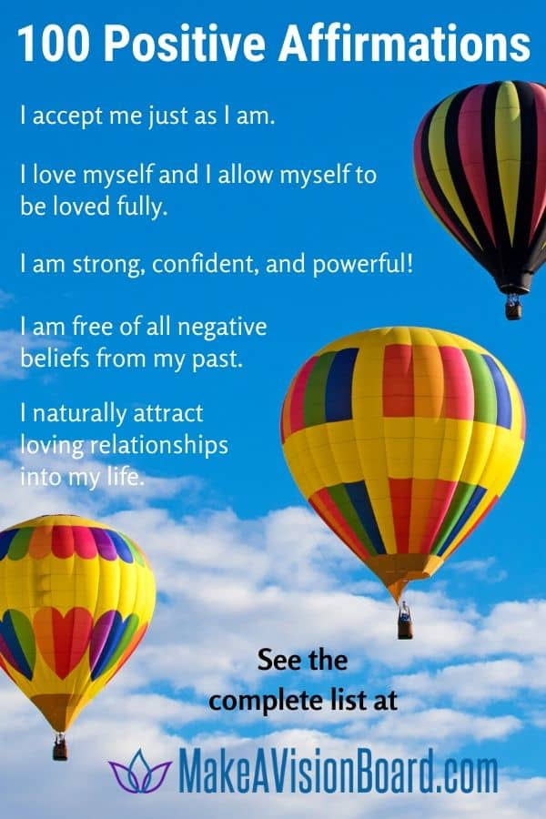 100 Positive Affirmations for Love & Life & Lots More!