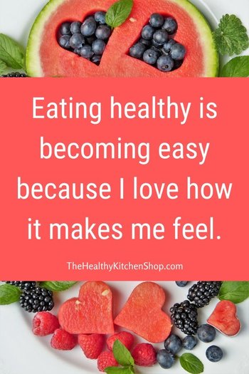 Weight Loss Affirmation: Eating healthy is becoming easy...