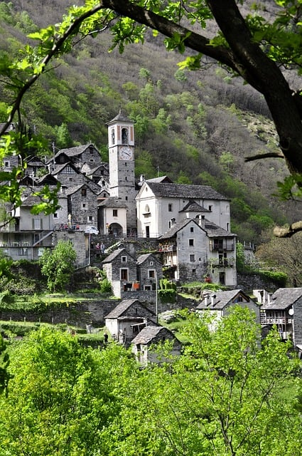Bergdorf Ticino Alpine Stone House in the happiest country on earth - https://www.makeavisionboard.com/happiest-country-on-earth/
