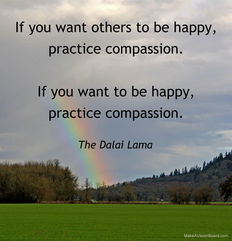 Dalai Lama quote about what makes people happy - http://makavisionboard.com/what-makes-people-happy/