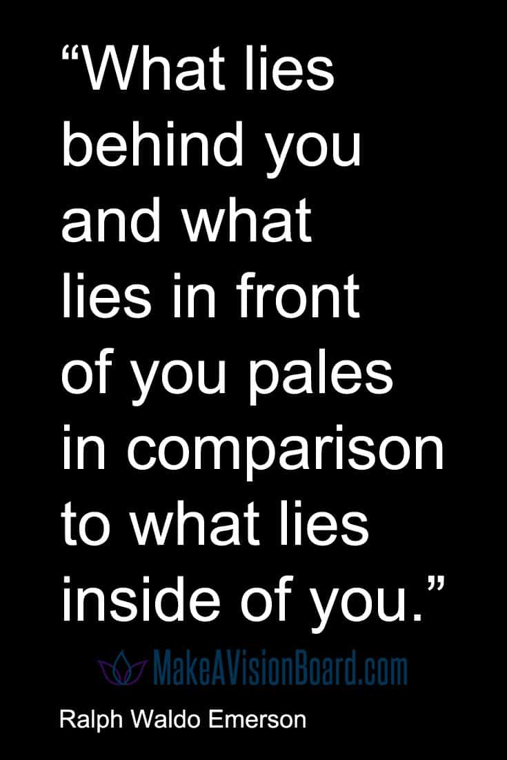 Quote, Emerson - What lies in front of you...
