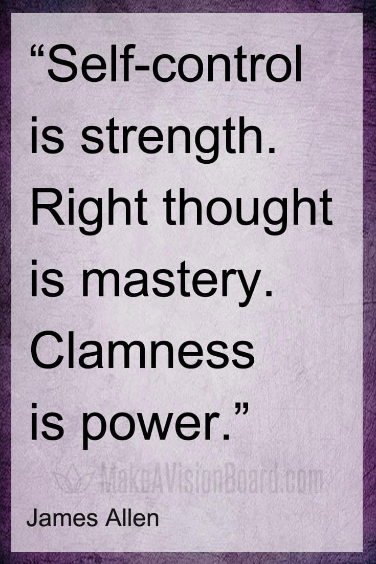 Law of Attraction Quote, James Allen, Calmness is Power