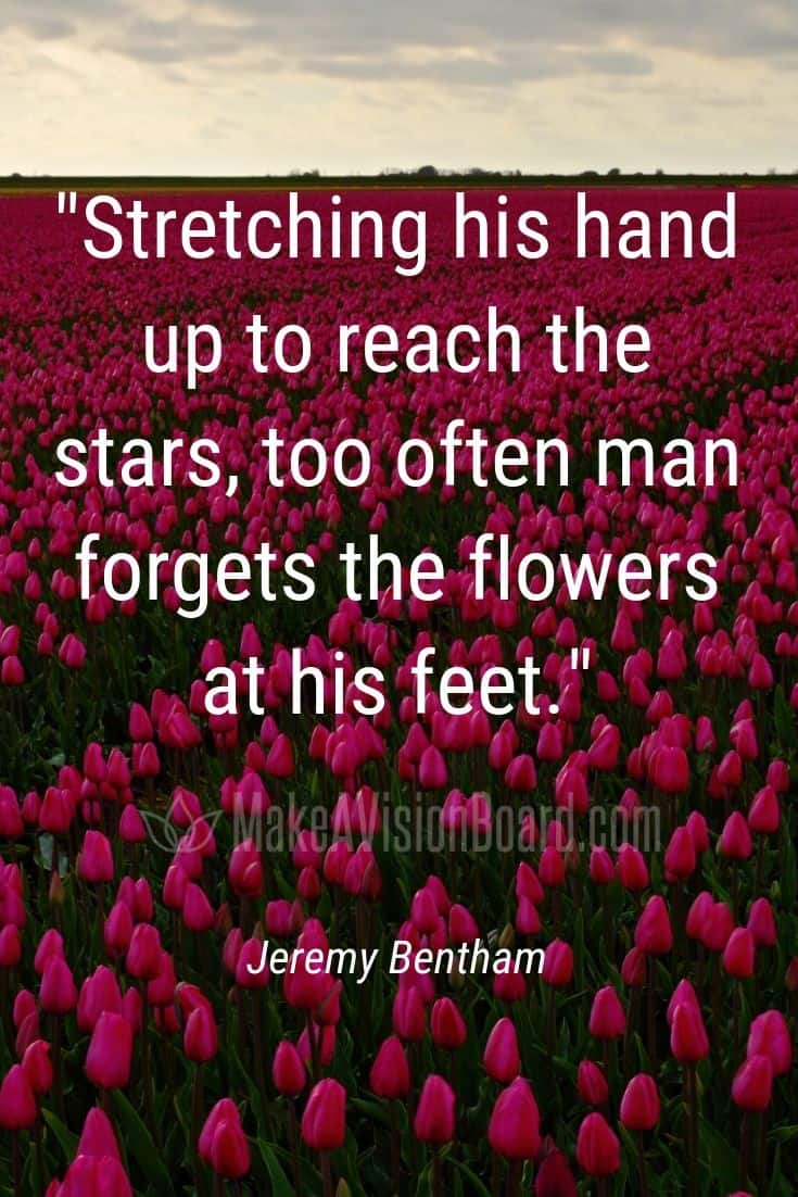 Bentham quote: Stretching his hand up to reach the stars...