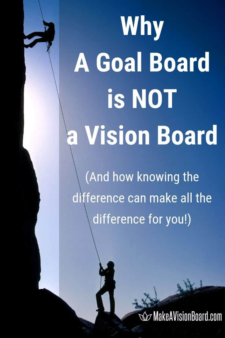 Goal Board - Why It's NOT a Vision Board and How Knowing the Difference Can Make All the Difference For You!